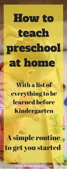 Are you thinking about starting preschool at home but not sure what to do or if you can handle it? See our easy preschool routine that can be done in about 30 minutes per day! learn how to teach preschool at home! #preschool #blueandhazel #homeschool #toddler #preschoolers