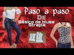 PASO A PASO DE BASICO STRAPLE/ BERTHA BURITICA/ CLASE #14 - YouTube Sewing Tools, Corset, Singer, Couture, Crop Tops, Women, Tips, Fashion, Templates