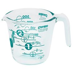 Pyrex is celebrating 100 years with this limited edition 2 Cup Measuring Cup featuring a turquoise design on the glass measuring cup. $4.99. Buy here.