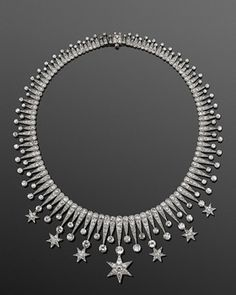 Diamond Stars Fringe Necklace, American, circa 1900- Fred Leighton