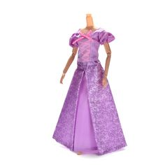 bb5ae0c8a0ac6 1セットプリンセス人形ドレス類似おとぎ話ラプンツェルウェディングドレスガウンパーティーバービー人形最高の