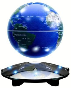 Rotation Mirror Luxury Creative Shape Magnetic Suspension Maglev Levitation Globe