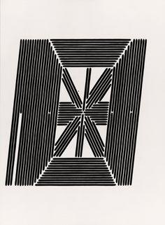 Tauba Auerbach - The Whole Alphabet, From the Center Out, Digital, VI Tauba Auerbach, Arte Popular, Art Blog, Alphabet, It Works, My Love, Digital, Type, Architecture