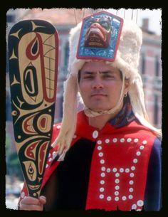 Native American Indian artist, David Neel, Kwakiutl.