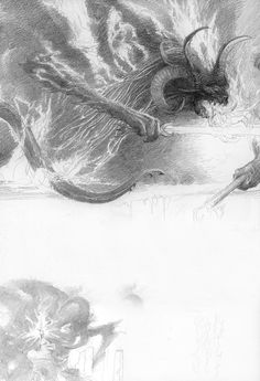 Gandalf and the Balrog by Alan Lee