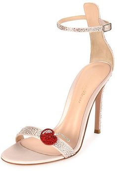 22602f0ead1 Gianvito Rossi Strass Cherry Ankle-Wrap 105mm Sandal