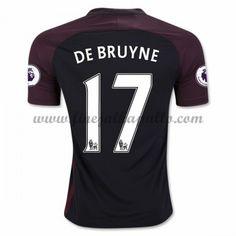 Jalkapallo Pelipaidat Manchester City 2016-17 De Bruyne 17 Vieraspaita