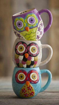 Owls. Mugs