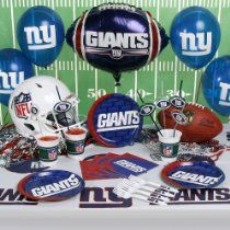NFL New York Giants Party Kit (88-Piece) Nfl Party, Party Kit, Party Ideas, New York Giants Logo, New York Giants Football, Football Celebrations, Football Birthday, 10th Birthday, All Nfl Teams