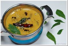 Pulincurry - Trissur Style (toor dal curry from Kerala) - Gluten Free, Vegan Veggie Recipes, Indian Food Recipes, Vegetarian Recipes, Snack Recipes, Cooking Recipes, Ethnic Recipes, Kerala Recipes, Vegan Rice Dishes, Healthy Dishes