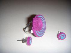 Conjunto de anillo y pendientes de antelina