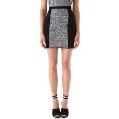 LOVE! Alexander Wang Rubberized Tweed Mini Skirt