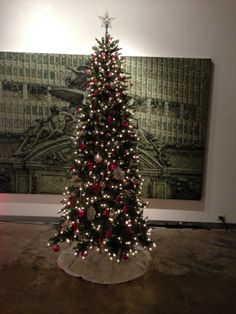 one of four trees that we setup and decorated at mason murer art gallery