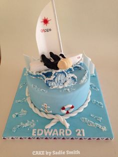Cute Cake My Happiness Is Surf Sun And Sails Pinterest Cake - Boat birthday cake ideas