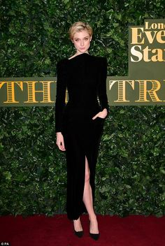 Simply stunning: The Night Manager starElizabeth Debicki stunned in a classic black dress