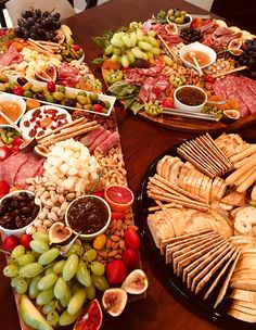 Cheese and Charcuterie Board - includes: three types of cheese (a soft, a medium, a hard), 15 oz of Charcuterie And Cheese Board, Charcuterie Platter, Cheese Boards, Party Food Platters, Cheese Platters, Appetizer Recipes, Appetizers, Types Of Cheese, Fig Jam