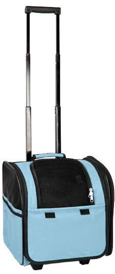 Wheeled Travel Pet Carrier- Light Blue: Wheeled Airline Approved Travel Pet Carrier- Light Blue
