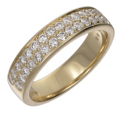 Grain set diamond wedding band