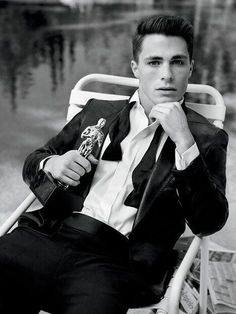 Colton Haynes - yeah, you definitely wouldn't kick this guy out of bed for leaving crumbs...