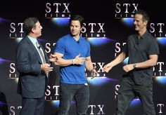"""Mark Wahlberg Photos - (L-R) Chairman of STXfilms Adam Fogelson, actor Mark Wahlberg and director Peter Berg speak onstage during CinemaCon 2018 STXfilms Invites You to an Evening Featuring A Sneak Preview of Their Feature Films"""" at The Colosseum at Caesars Palace during CinemaCon, the official convention of the National Association of Theatre Owners, on April 24, 2018 in Las Vegas, Nevada. - CinemaCon 2018 - CinemaCon 2018 STXfilms Invites You To A Sneak Preview of their Future Films"""