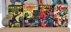 Comic book cover magnet set - vintage Spider-Man, Fantastic Four and X-Men comic book covers
