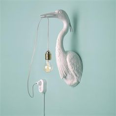 Light up your home with this special Flying Dutchman lamp. Handmade of white ceramic, the gold colored details of the carbon filament lamp give it a touch of luxury. The lamp will come with. Deco Luminaire, Luminaire Design, Outdoor Wall Lantern, Outdoor Walls, Home Lighting, Outdoor Lighting, Bedside Lighting, Hallway Lighting, Deco Wc Original