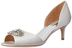 Badgley Mischka Women's Petrina D'Orsay Pump, White, 9 M US