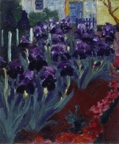 Painting with irises, Emil Nolde, nachlass des Kunstlers, found on magdavacariu.blogspot.gr