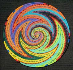 Handmade Zulu Telephone Wire Basket | From South Africa