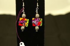 Comic Book Earrings. SOLD