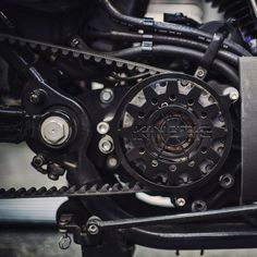 Kinetic Sportster sprocket cover in textured black. by kinetic_motorcycles http://ift.tt/1CFXPaQ