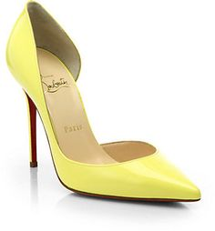 Christian Louboutin Iriza Patent Leather D'Orsay Pumps on shopstyle.com