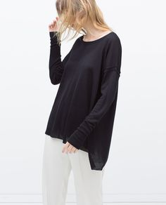 Image 2 of OVERSIZED SEAMED SWEATER from Zara
