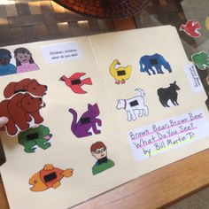 FREE Brown Bear Craftivity! Students match the pictures and Velcro them to the folder.