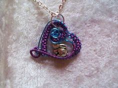 Bunny Rabbit Heart Handcrafted Copper Wire Wrapped Necklace Easter #Handmade #Pendant $16.50