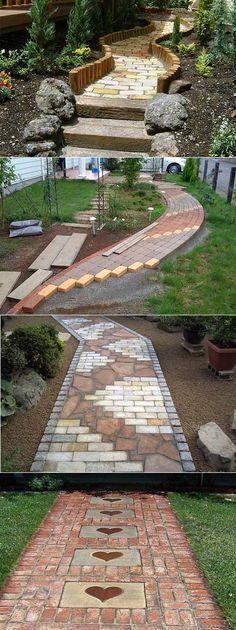 42 Amazing DIY garden path and walkway ideas Diy Garden, Garden Paths, Garden Cafe, Green Garden, Garden Tips, Herb Garden, Path Design, Design Ideas, Design Inspiration