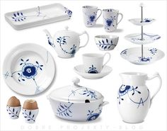 Explore the world of Royal Copenhagen porcelain, enjoy the stories of the centuries old brand, and have your presents stylishly wrapped as only Royal Copenhagen can do it. Royal Copenhagen, Copenhagen Denmark, House Doctor, Plywood Furniture, Danish Culture, White Dishes, Blue Design, Design Design, Danish Design