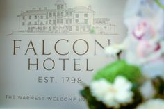 View venue pictures and testiomonials from happy couples and their wedding parites. Book your bespoke wedding celebration with The Falcon Hotel Bude Bude, Celebrity Weddings, Logo, Party, Flowers, Logos, Logo Type, Fiesta Party, Royal Icing Flowers