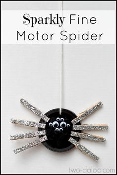 Sparkly Fine Motor Eensey Weensey Spider (pinned by Super Simple Songs) #educational #resources for #children