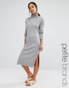 Image 1 of Vero Moda Petite Rollneck Midi Dress