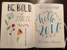bullet journal hello 2017 january