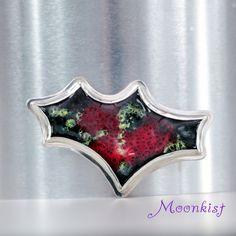 Ready to Ship Unique Colorful Enamel Brooch by MoonkistGallery. This unique brooch is crafted from enameled Copper and set in handmade Sterling Silver bezel.  Visit moonkistgallery.etsy.com to see more pieces from this collection!  Repin this exceptional brooch to your own inspiration board!