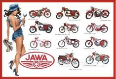 Vintage Moped, Retro Bike, Vintage Motorcycles, Cars And Motorcycles, Moto Jawa, Motorcycle Posters, Classic Bikes, Old Ads, Sport Cars