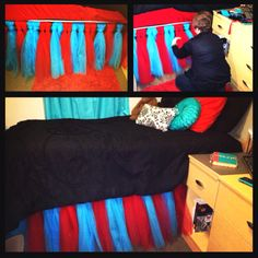Homemade Tutu bed skirt #mydorm