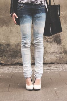 dip dyed ombre jeans