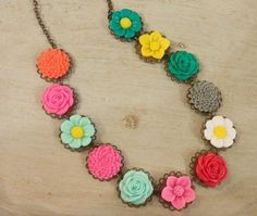 Flower Necklace by hayliecurrywarren on Etsy