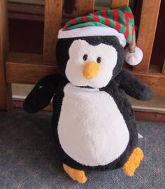 """9"""" 2007 TY PLUFFIES Plush Penguin  12 #Ty"""