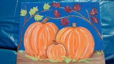 Pumpkins and Leaves  7 years and up