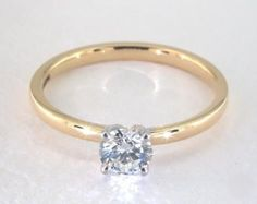 .7ct Round Solitaire Engagement Ring in Yellow Gold - See it in 360 HD SuperZoom!