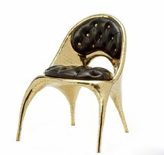 Our favorite Italian brand Versace never cease to be imperialistic if they can. The LA-based artist and designers Nikolai and Simon Haas (The Haas Brothers) have created a special furniture collection for Versace Home. Yes, and it's all gold with Donatella Versace, Gianni Versace, Casa Versace, Versace Home, Versace Versace, Dining Furniture, Home Furniture, Furniture Design, Dining Chairs